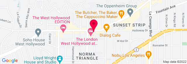 Map for The Viper Room