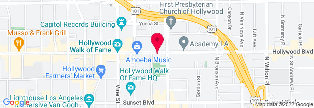 Map for Fonda Theatre