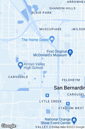 Map of San Bernardino