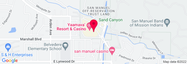 Map for San Manuel Indian Bingo & Casino