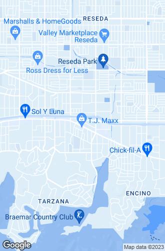 Map of Tarzana