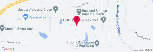 Map for Rowland Springs Baptist Church