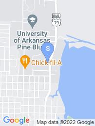 University of Arkansas Pine Bluff map