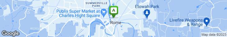 Map of Carino's Italian