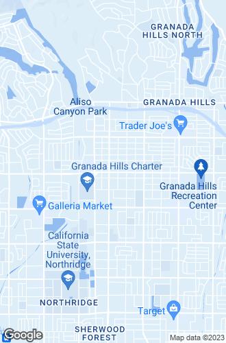 Map of Granada Hills