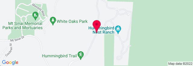 Map for Hummingbird Nest Ranch