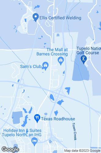 Map of Tupelo