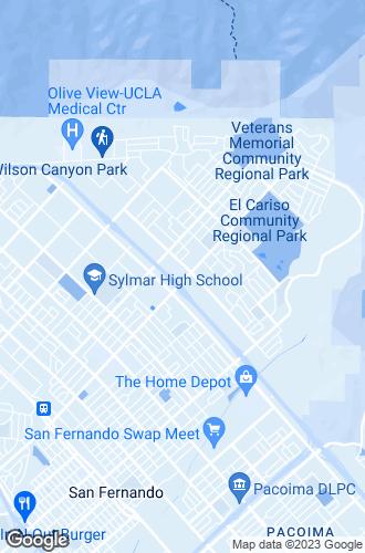 Map of Sylmar