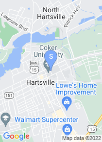 Coker College map