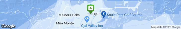 Map of Auberge At Ojai