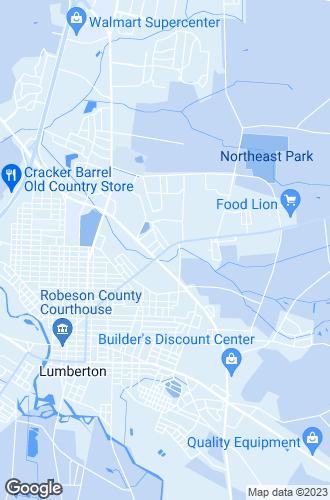 Map of Lumberton
