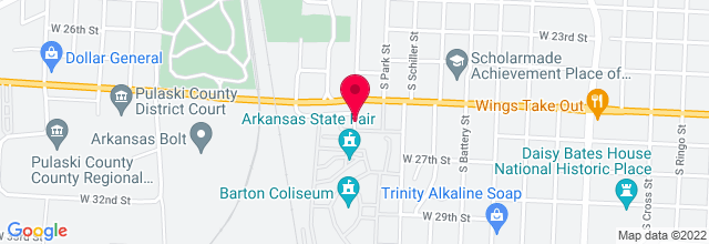 Map for Barton Coliseum