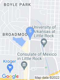 University of Arkansas map