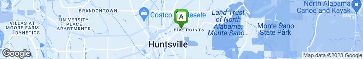 Map of Hardee's