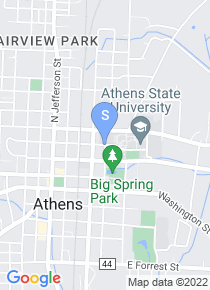 Athens State University map