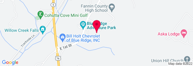 Map for Fannin County Performing Arts Center