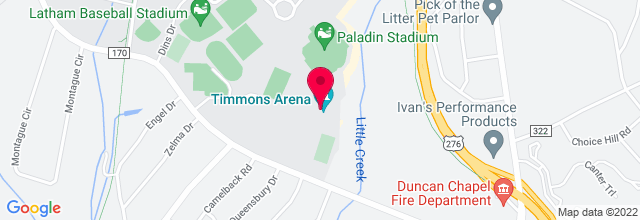 Map for Furman Amphitheater