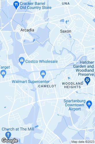 Map of Spartanburg