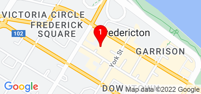 Google Map of 349 King Street, Fredericton, NB, Canada