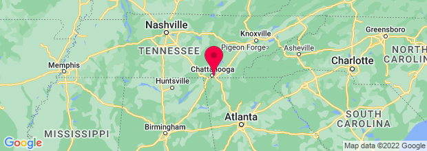 Map of Chattanooga, TN, US