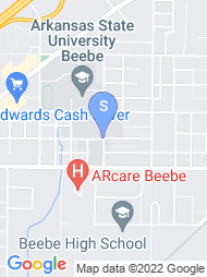 Arkansas State University Beebe map