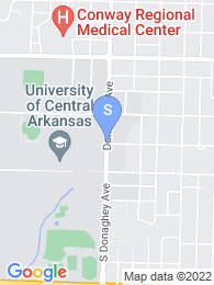University of Central Arkansas map