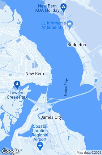Map of New Bern