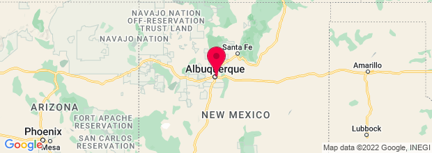 Map of Albuquerque, NM, US