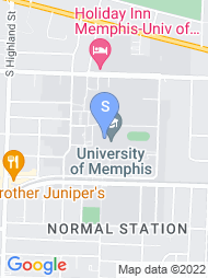 University of Memphis map