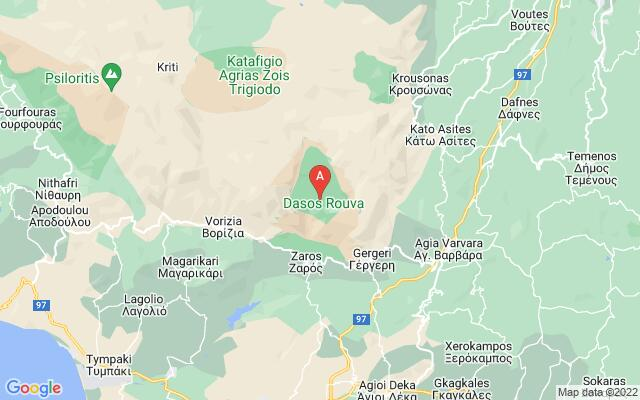 Google Map of ROUVAS FOREST & GORGE OF GAFARIS