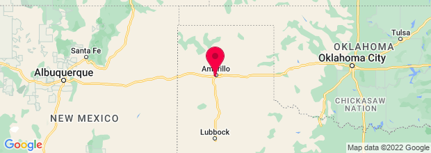 Map of Amarillo, TX, US