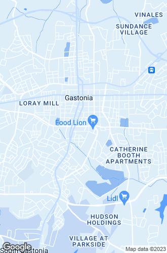 Map of Gastonia