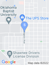 Oklahoma Baptist University map