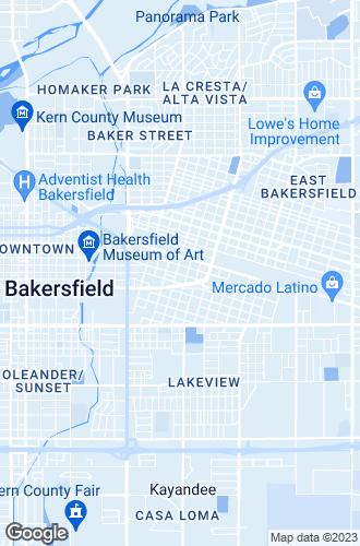 Map of Bakersfield