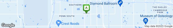 Map of Swadley's Bar-B-Q