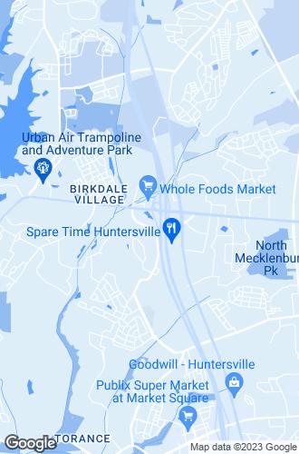 Map of Huntersville