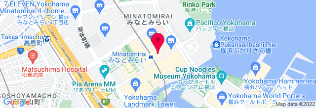 Map for Pacifico Yokohama, National Convention Hall (パシフィコ横浜 、国立大ホール)
