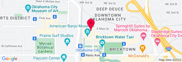 Map for Bricktown Brewery and Pub