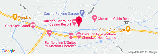 Map for Harrah's Cherokee Casino, Resort & Event Center