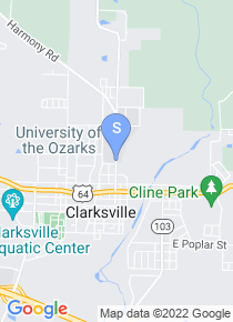 University of the Ozarks map