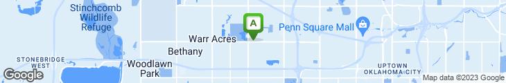 Map of Oklahoma Station BBQ
