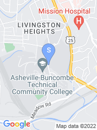 Asheville Buncombe Technical College map