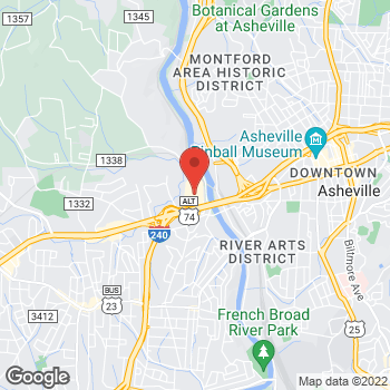 Map of Tuesday Morning at 44 Westgate Parkway, Asheville, NC 28806
