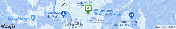Map of Asheville Pizza Company