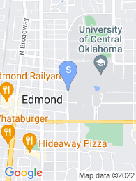 University of Central Oklahoma map
