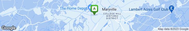 Map of Aubrey's Restaurant Maryville