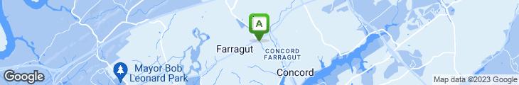 Map of Aubrey's Restaurant Farragut