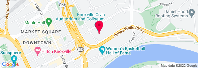 Map for Knoxville Civic Center