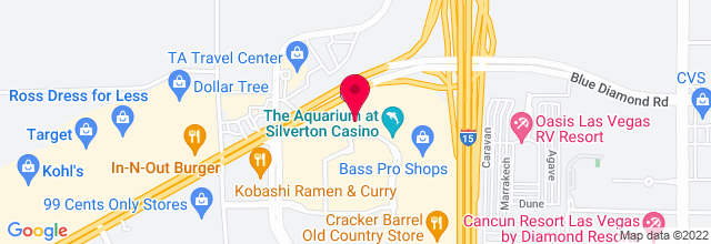 Map for Sway Pool, Silverton Hotel & Casino