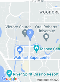 Oral Roberts University map